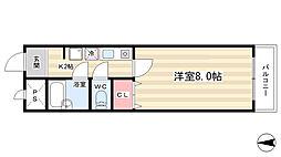 J-BOX1[5階]の間取り