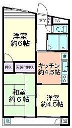 武蔵野ベルハイツ久米川[303号室]の間取り