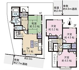 足立区西新井栄町2丁目 中古戸建 4DKの間取り