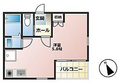 シャングリラ町田[-1階]の間取り