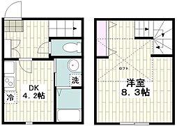 横浜市営地下鉄ブルーライン 戸塚駅 徒歩9分の賃貸アパート 1階1DKの間取り