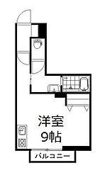 JR山陽本線 高島駅 徒歩22分の賃貸アパート 1階1Kの間取り