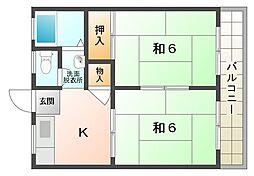 岩井ハイツ[2階]の間取り