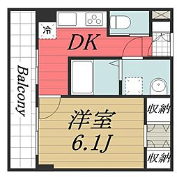 千葉県成田市玉造3丁目の賃貸マンションの間取り