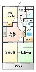 岡山県倉敷市宮前丁目なしの賃貸アパートの間取り