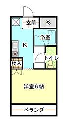 兵庫県赤穂市加里屋の賃貸アパートの間取り