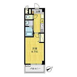エスポワール川崎[102号室]の間取り