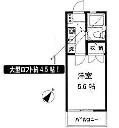 辻堂ニューエスタ21[206号室]の間取り