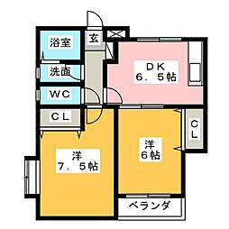 EMヘルシーヴィラ松本台セントラル[1階]の間取り