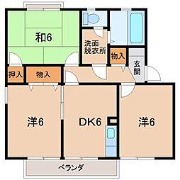 セジュールシマ[2階]の間取り