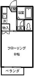 ネオファミーユ天台[202号室]の間取り
