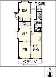 ソジュール[3階]の間取り