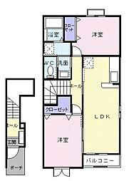 ヌーベル[2階]の間取り
