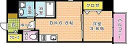 KATAYAMA BLDG  25[403号室]の間取り