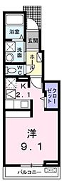 広島県福山市千田町4丁目の賃貸アパートの間取り