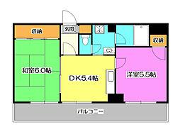 ラビオン所沢[6階]の間取り
