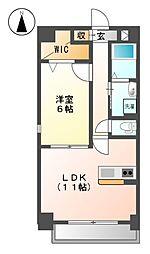 愛知県名古屋市北区志賀本通2丁目の賃貸マンションの間取り
