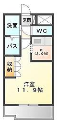 イーストピアTSUKUBA[1階]の間取り