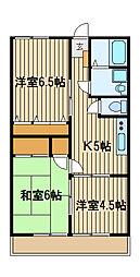山合コーポ[1階]の間取り