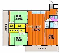キャステル新野[2階]の間取り