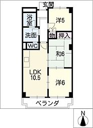 藤マンション[3階]の間取り