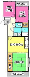 アーガスヒルズ2[3階]の間取り