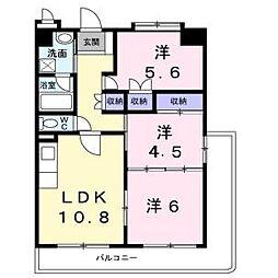 レジデンスくすのき館[2階]の間取り