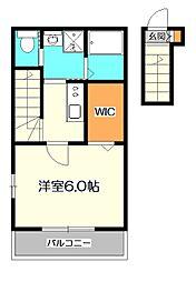 Raffine HIGASHI KOGANEI 〜ラフィネ東[2階]の間取り