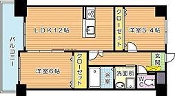 ノーブル三ヶ森[2階]の間取り