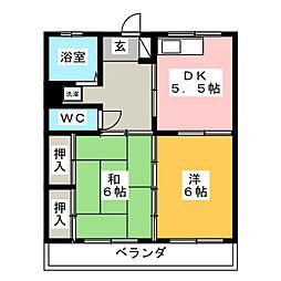 佐松マンション[2階]の間取り