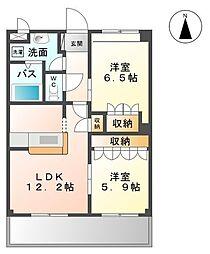 ベルファミーユ2[3階]の間取り
