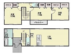 [一戸建] 広島県広島市安佐南区川内1丁目 の賃貸【/】の間取り