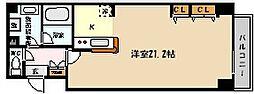 JR東海道・山陽本線 六甲道駅 徒歩8分の賃貸マンション 7階ワンルームの間取り