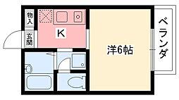 メゾン甲子園[201号室]の間取り