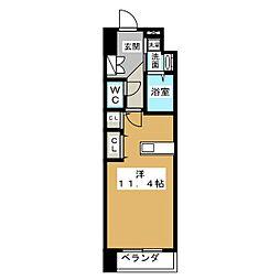 アークデュオ仙台苦竹[1階]の間取り