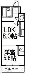 OBX[2階]の間取り