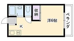 兵庫県西宮市里中町2丁目の賃貸アパートの間取り