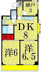 ジュネシオンSEVEN[6階]の間取り