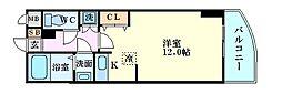 カスタリア新梅田[3階]の間取り