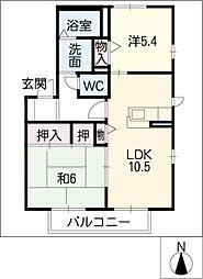 コート・ド・ソレイユB棟[1階]の間取り