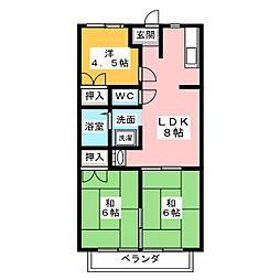 ファミール幸 B棟[2階]の間取り