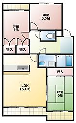 愛知県名古屋市名東区高柳町の賃貸マンションの間取り