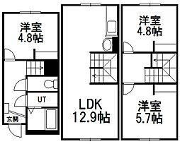 リヨ・K[1階]の間取り