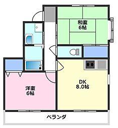 カワツルセブン[3階]の間取り