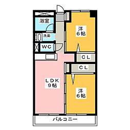 ピアチェーレ江南[3階]の間取り