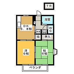 グレイスハイツ[1階]の間取り