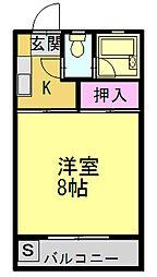 シャルムYAMA[105号室]の間取り
