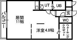 セルベッサ札幌レジデンス[406号室]の間取り