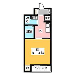 静岡県静岡市駿河区宮竹1丁目の賃貸マンションの間取り
