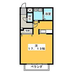 テクノコーポ7[1階]の間取り
